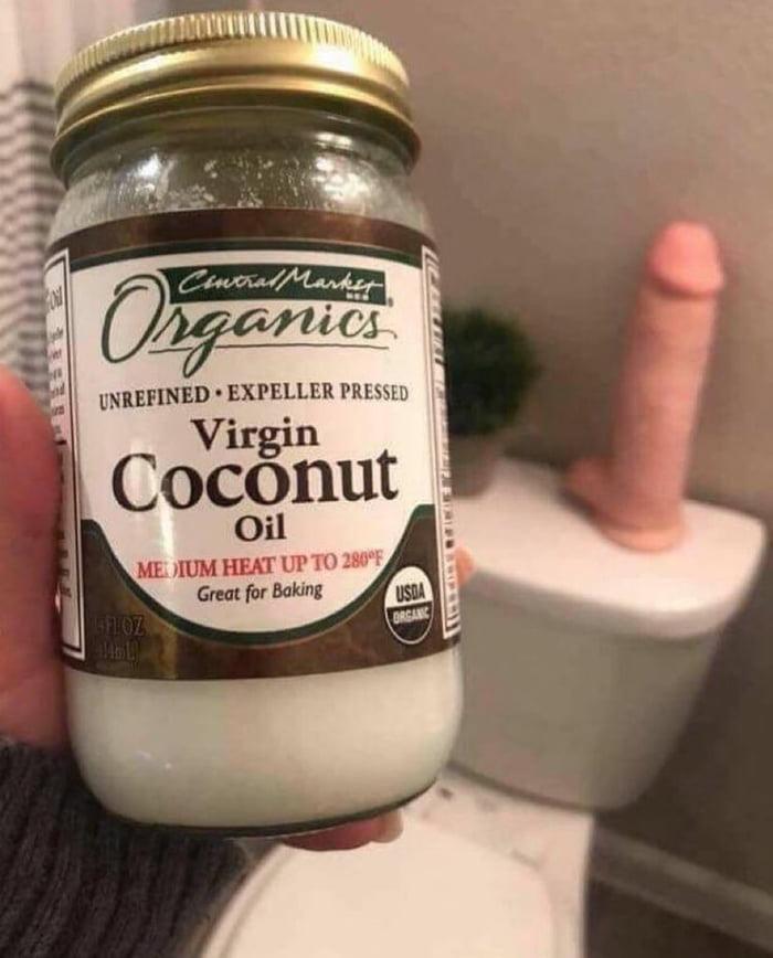 Coconut Oil Dildo