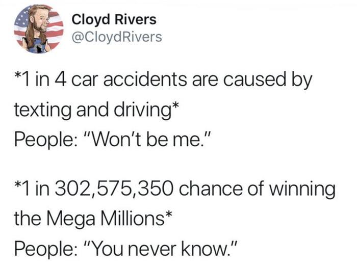 He isn't wrong