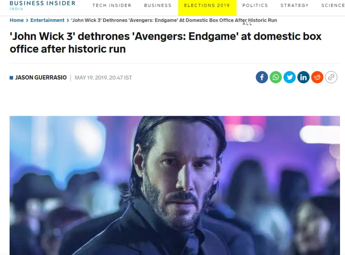 John Wick is not exactly a boogeyman, he is the one who sent to kill