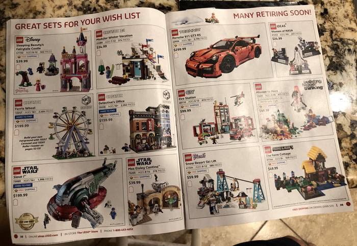 Retiring Sets From 2018 Lego X Mas Catalog Possible Confirmation
