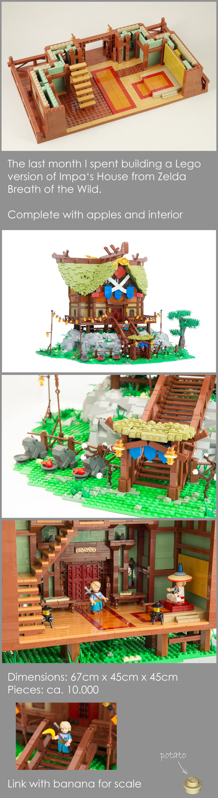 I built a Lego version of Impa's House from Zelda
