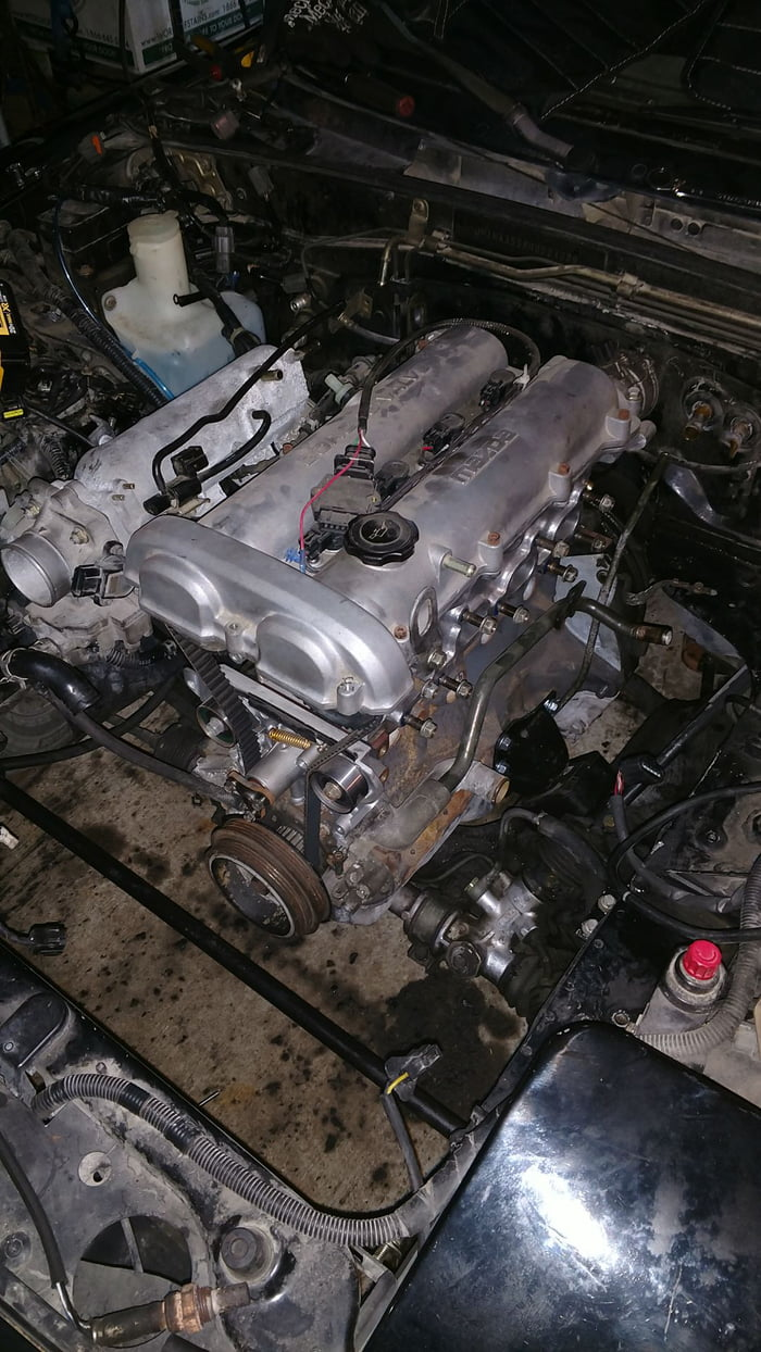 miata progress pt 3 engine is finally in and that s all i have to