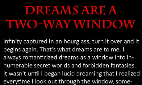 Dreams are a Two-Way Window