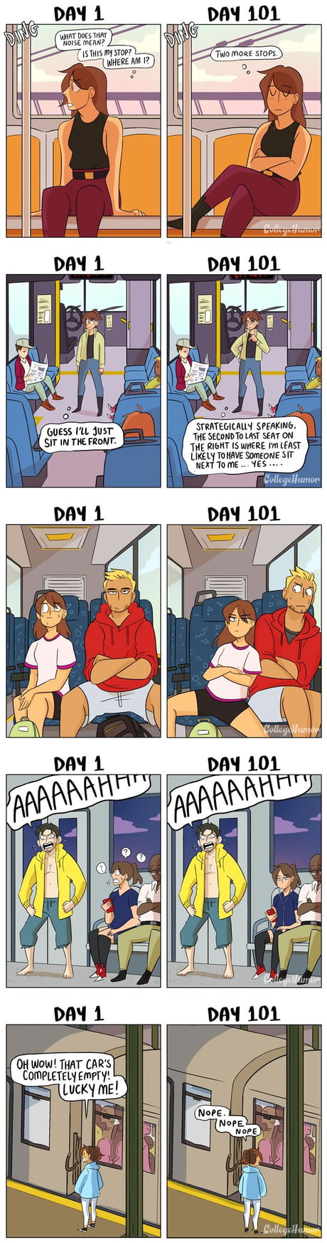 Taking Public Transit: Day 1 vs Day 101