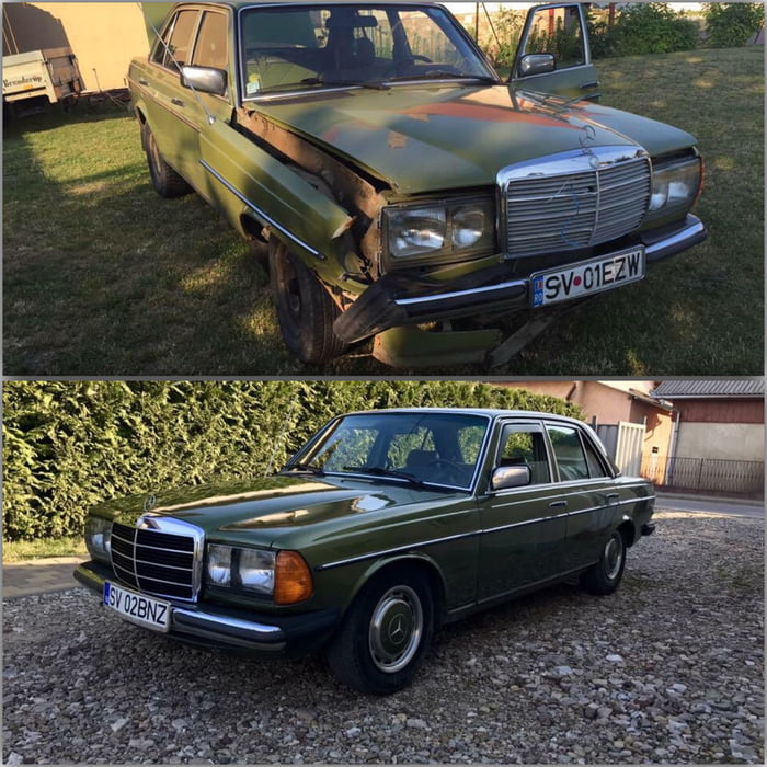 My first car! Best cars in the WORLD! Mercedes-Benz 300d - 9GAG