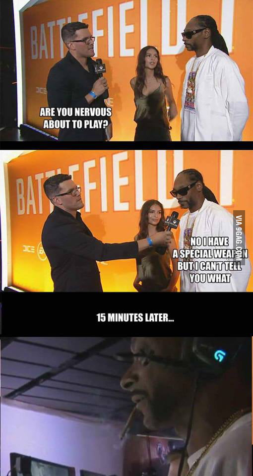 Snoop Dogg's special weapon - 9GAG