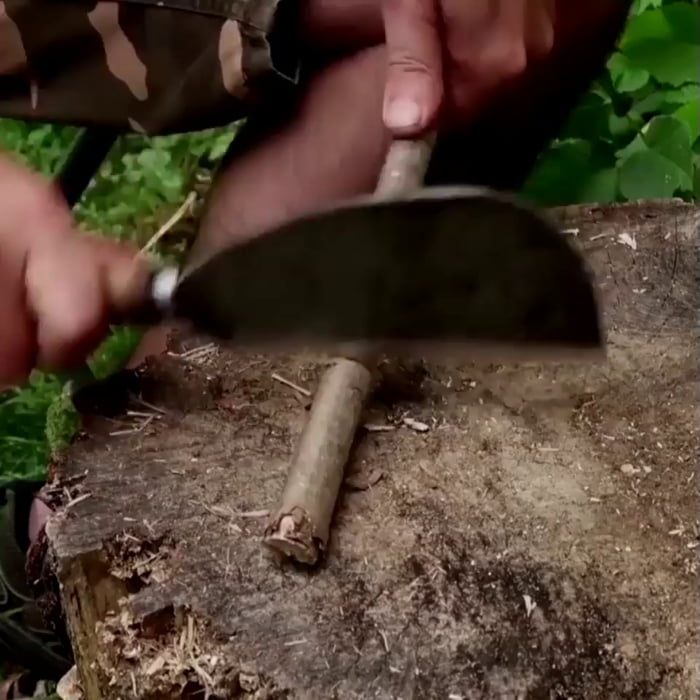 How to make a bow drill for friction fire