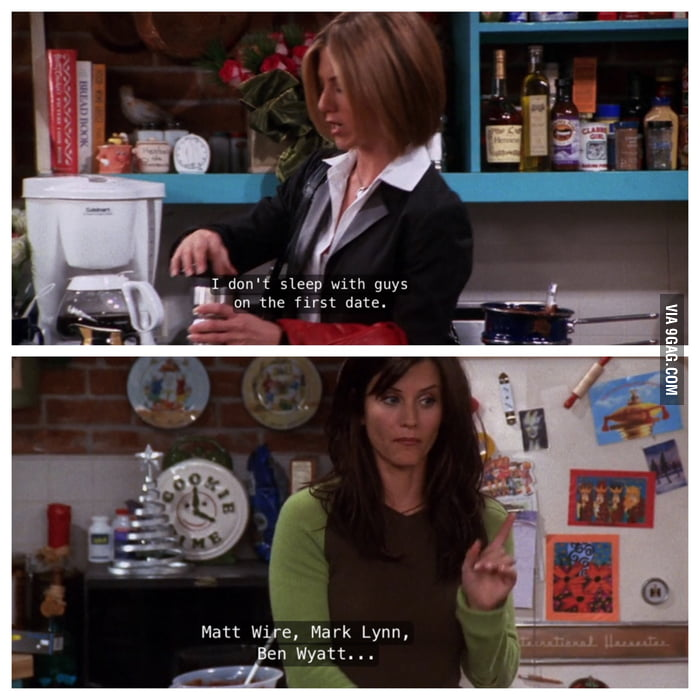 Rachel from Friends dated Ben Wyatt from Parks and Rec - 9GAG