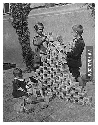 Wwi Kids Playing With German Marks
