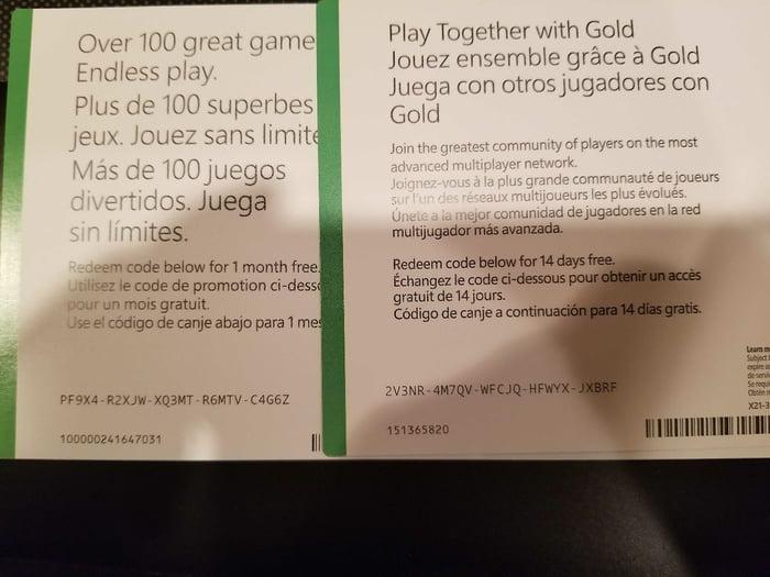 xbox live gold gratuit 1 mois
