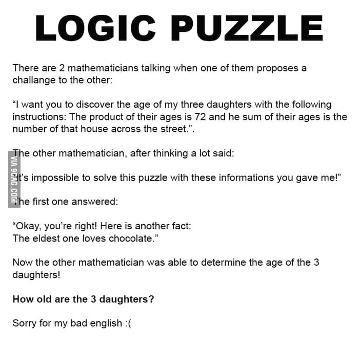 Logic Puzzle 9gag