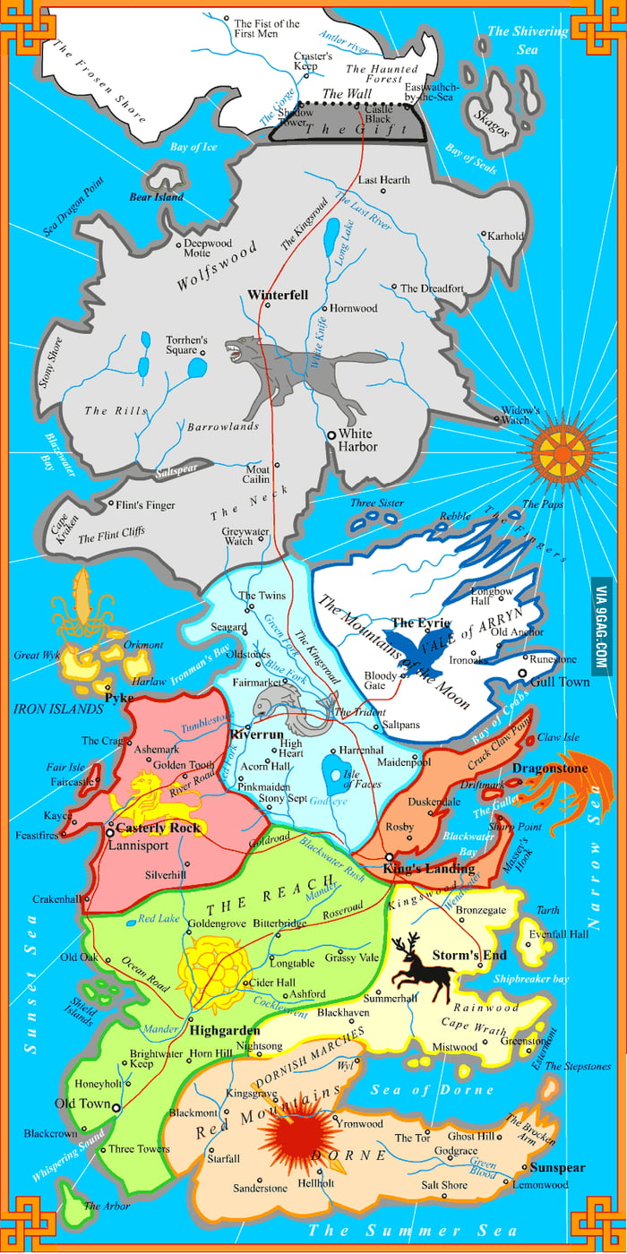 The political map of westeros game of thrones 9gag the political map of westeros game of thrones gumiabroncs Choice Image