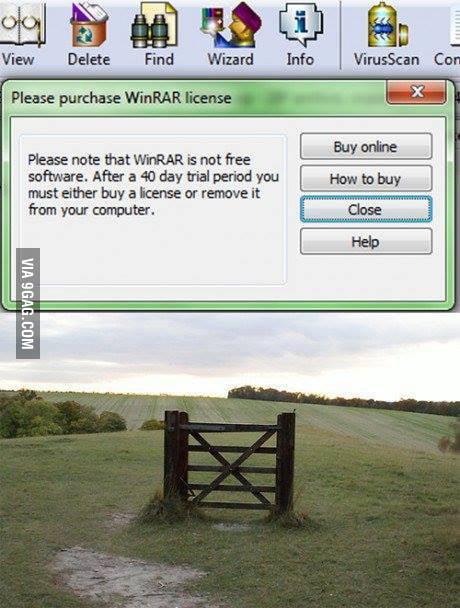Only the universe, the human stupidity and Winrar trial