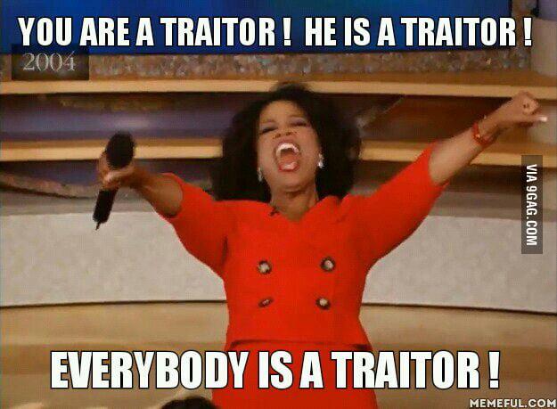 Resultat d'imatges de traitor everywhere