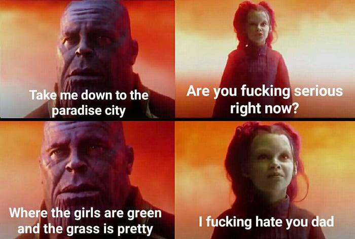 Thanos' ultimate dad joke - 9GAG