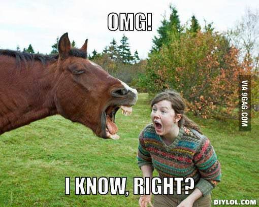 Funny horse with senseless caption - 9GAG
