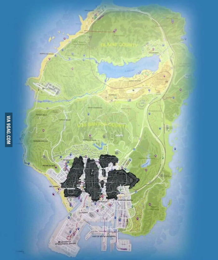 The New GTA 5 Map Compared To GTA 4 Map
