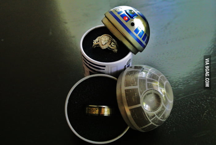 Fiance surprised me by making Star Wars ring boxes for our upcoming wedding.