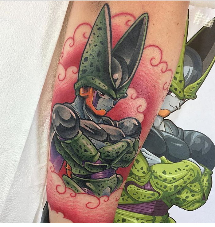 My New Cell From Dragon Ball Z Tattoo 9gag