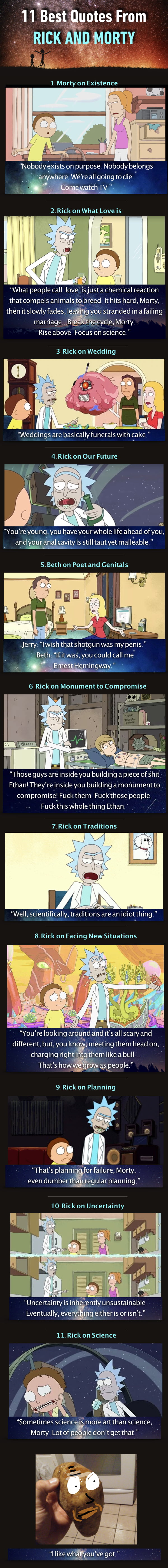 Best Rick And Morty Quotes 11 Best Rick And Morty Quotes Of All Time  9Gag