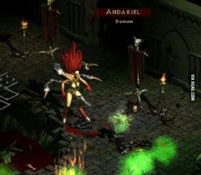 Andariel Diablo 2 I Dunno But This Boss Scared The Shit