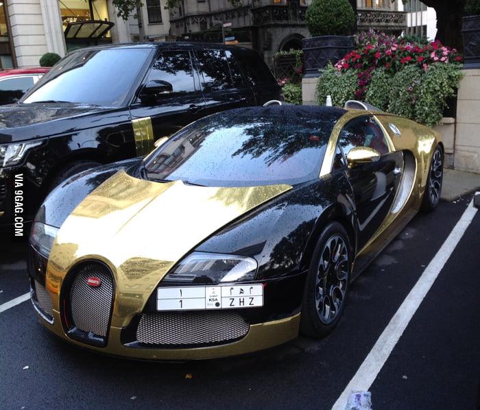 Golden Bugatti Veyron London 9gag