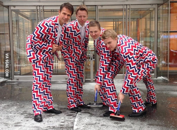 The Official Norwegian Curling Team's Olympic Uniforms