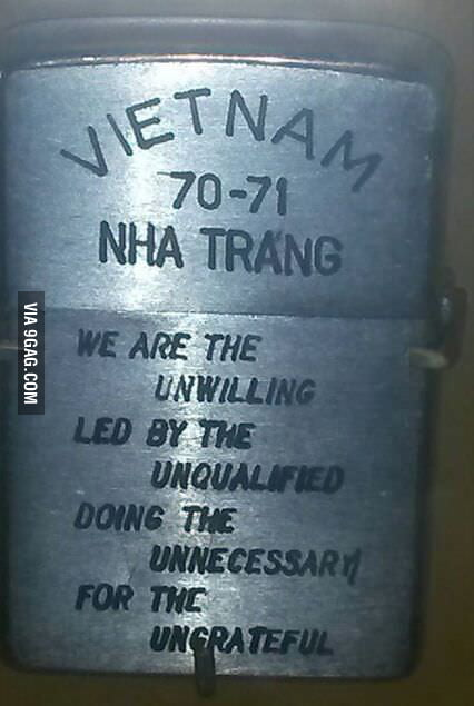 Zippo lighter from the US-Vietnam war