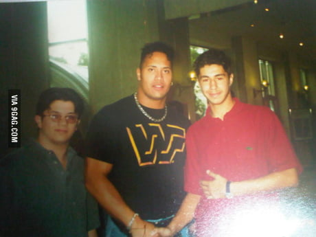 Me Shaking Hands With Dwayne The Rock Johnson Dubai 1994