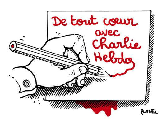 """With Charlie Hebdo"""