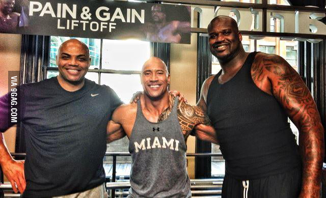 The Rock looking small