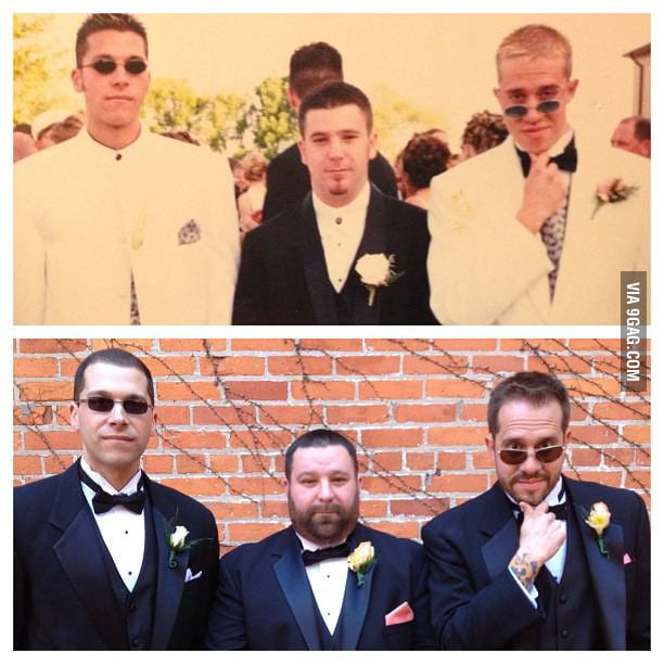 13 years later, prom to wedding.