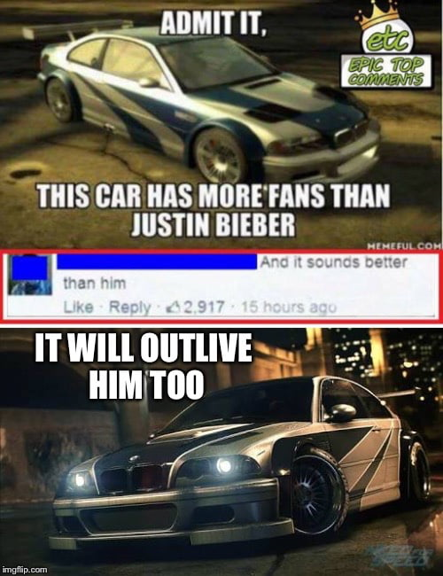 Bmw M3 Gtr In Need For Speed 2015 The Legend Lives On 9gag