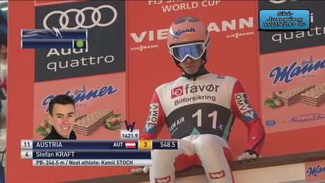 New world ski jump record Stefan Kraft 253,5m [18s]
