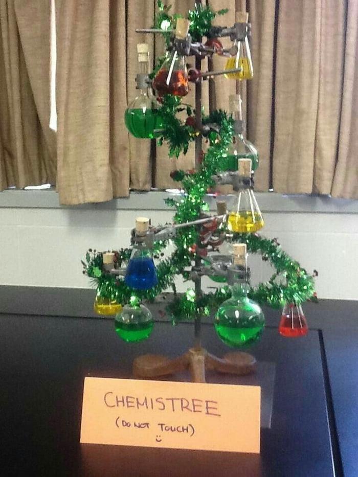 Поздравление с новым годом от химии