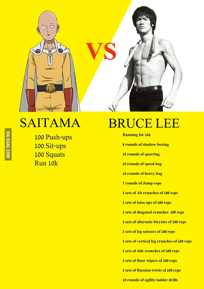 Daily Workout: One Punch Man vs Bruce Lee - 9GAG The Bag Man Movie Poster