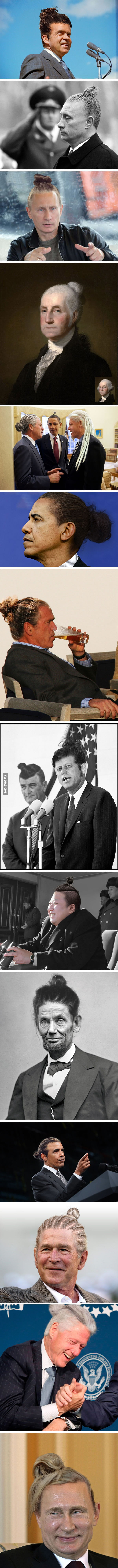 World leaders with top knots