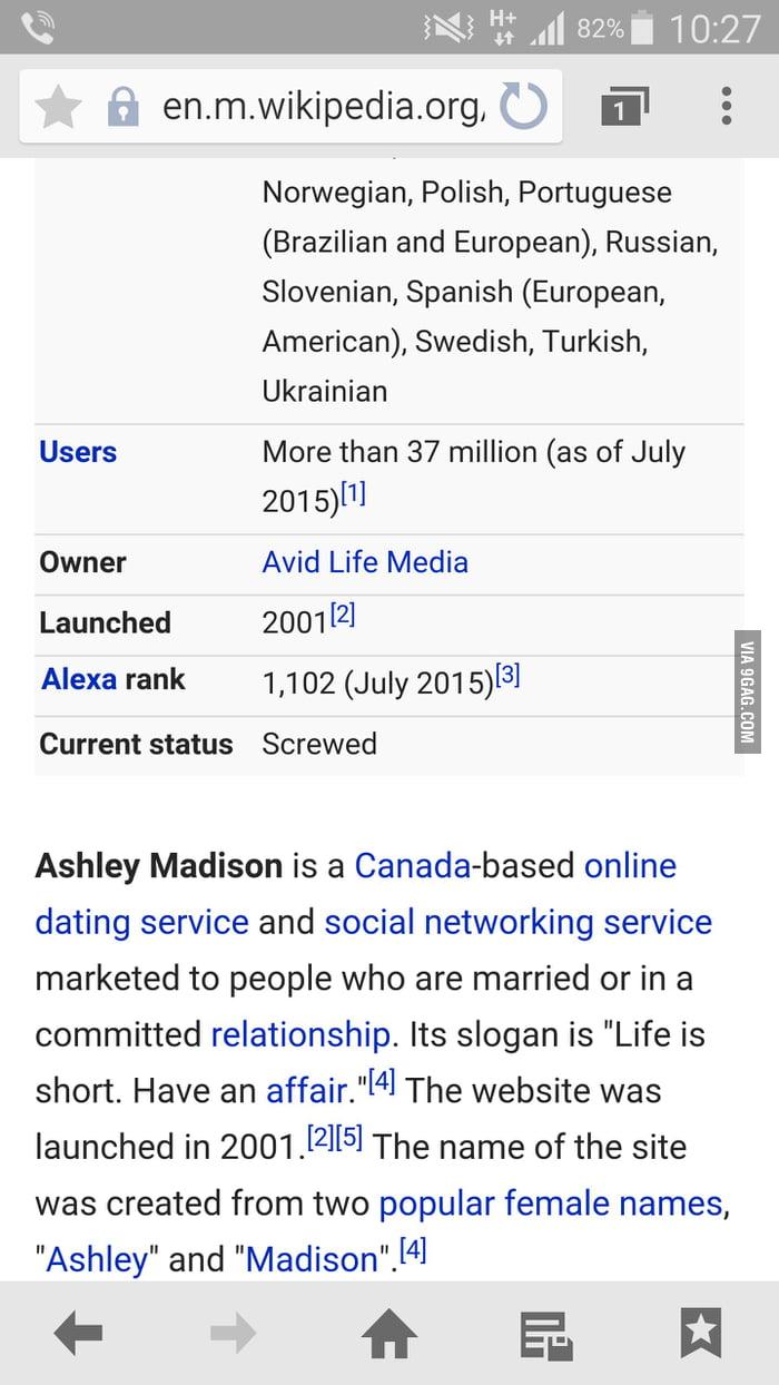 ashley madison dating site wikipedia