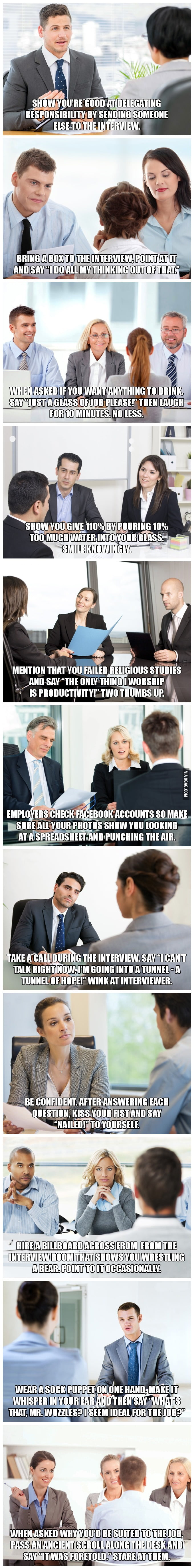 12 tips to help you succeed at job interviews 9gag 12 tips to help you succeed at job interviews