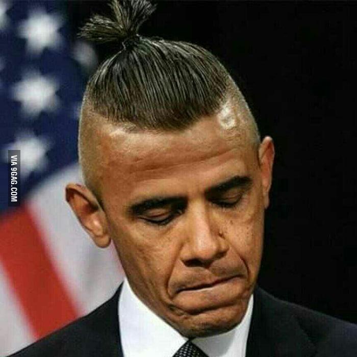 Obamas New Haircut 9gag