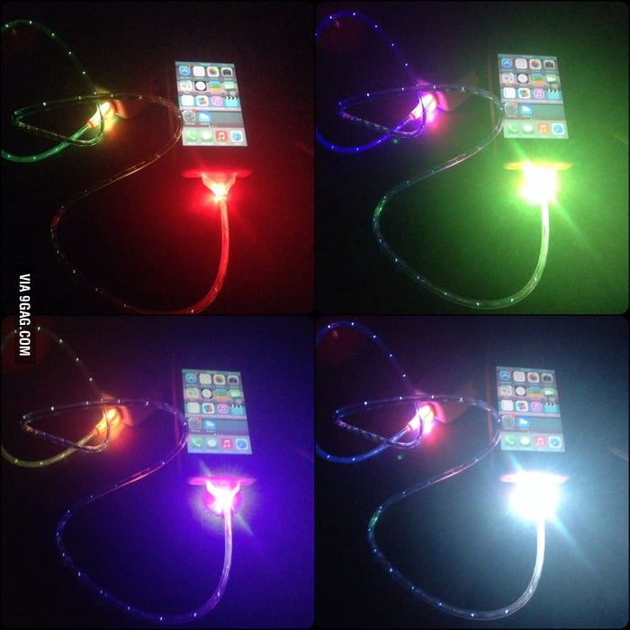 just got this new iphone charger christmas light