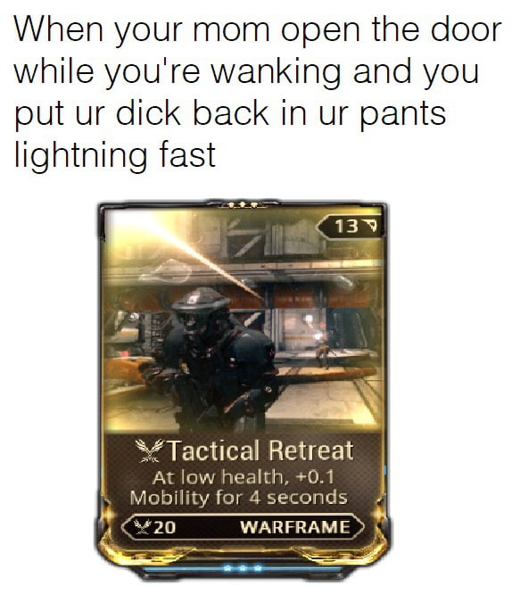 Warframe mods are now oficially memes - 9GAG