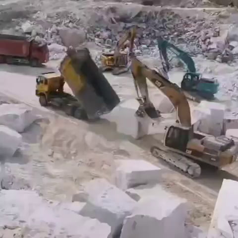 Perfect handling of machinery to transport one massive chunk of rock