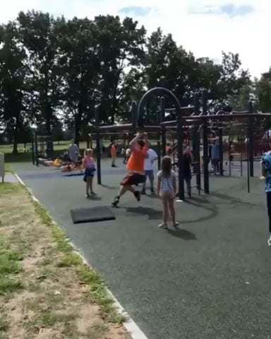 Kid's a legend on the playground