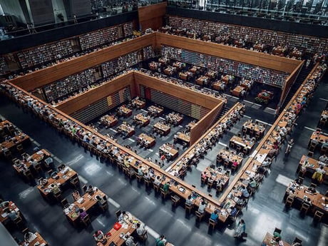 Just a normal day in national library of China