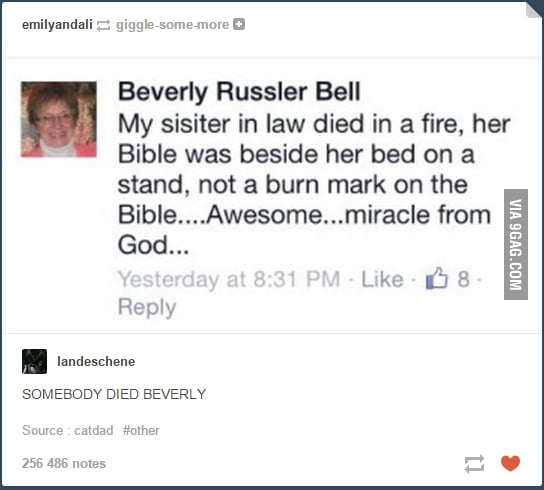Someone died beverly !