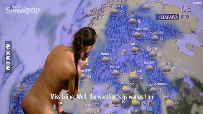 the naked finnish weather girl