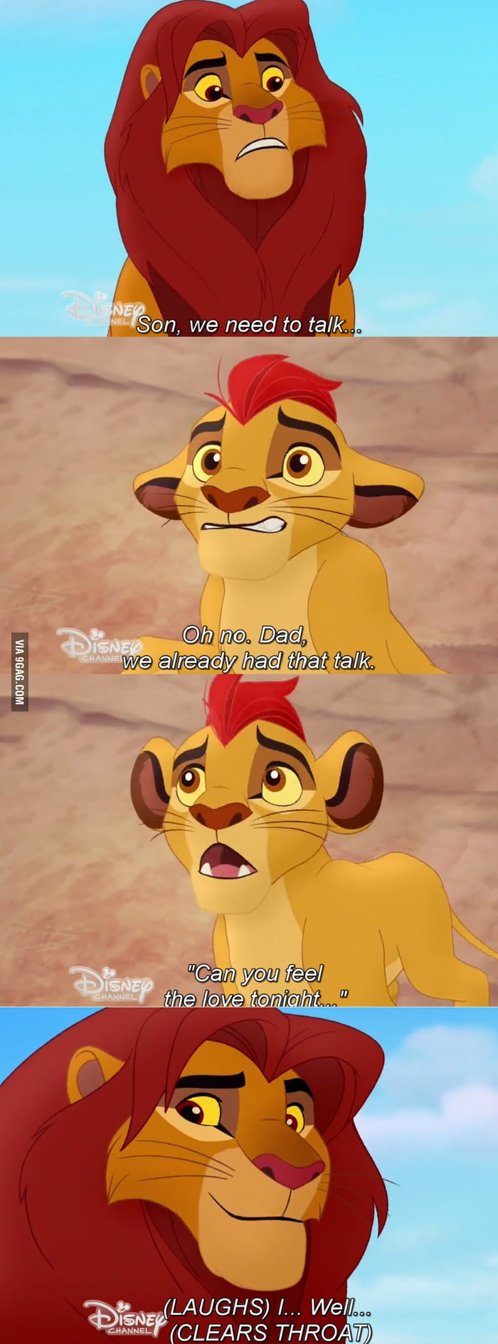 Simba talking about his sexy time with nala - 9GAG
