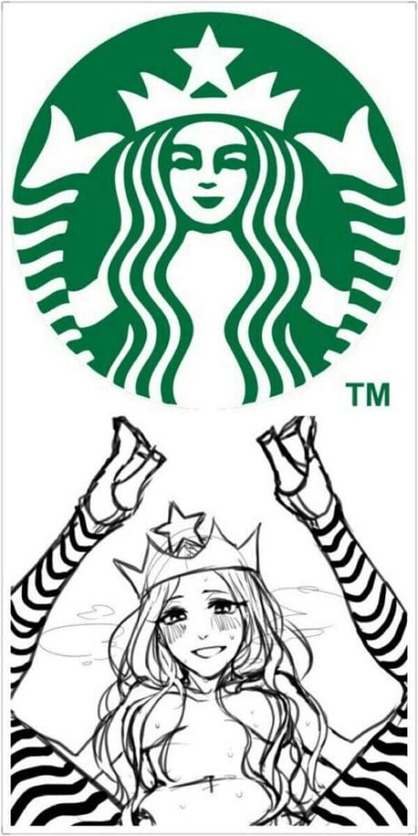 The Real Logo Of Starbucks 9gag