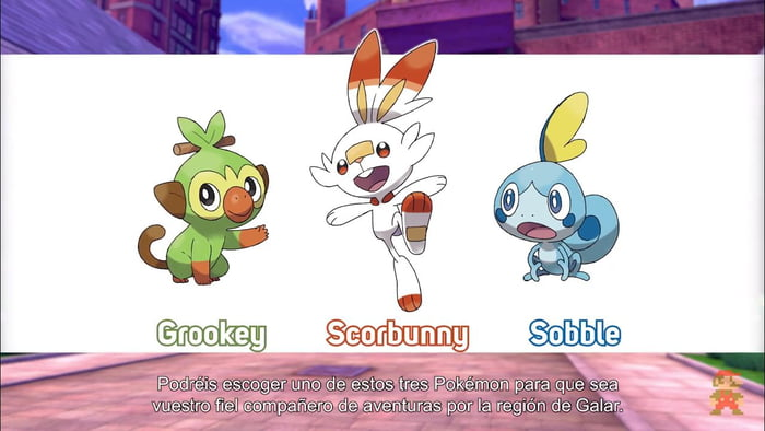 The New Starters From Pokemon Shield And Sword 9gag